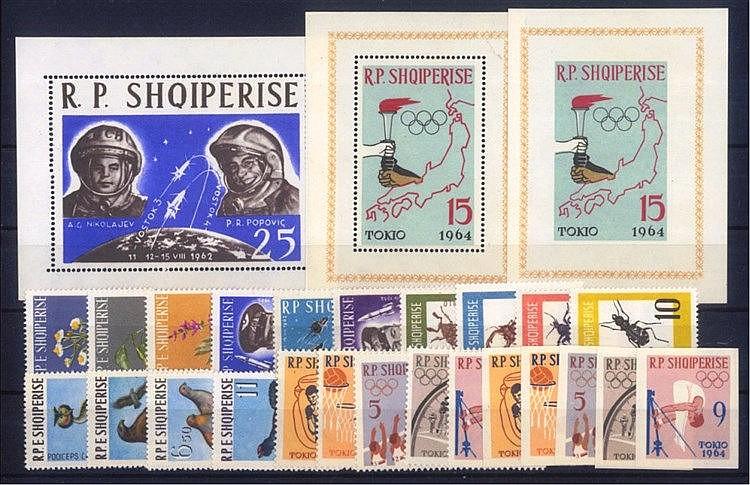 ALBANIEN 1962-1964 postfrische Luxus - Partie, KW 147,- Euro