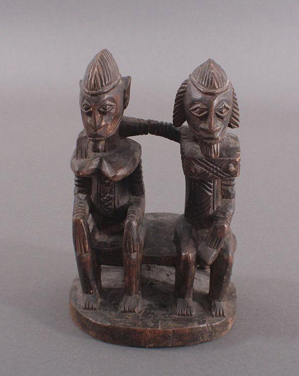 Holzfigurengruppe, Stammeskunst der Dogon, 20 Jh.