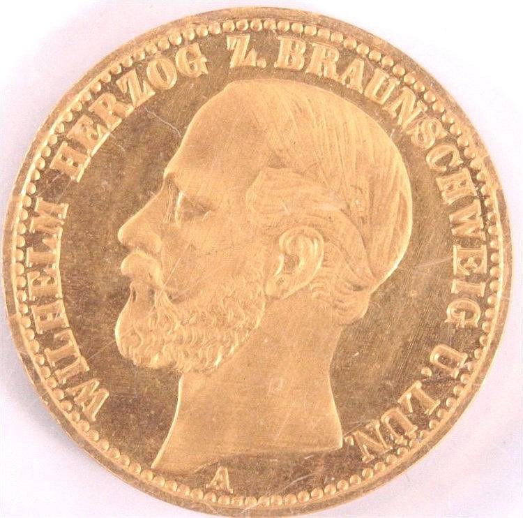 20 Mark Wilhelm Herzog zu Braunschweig, 1875 A Nachprägung