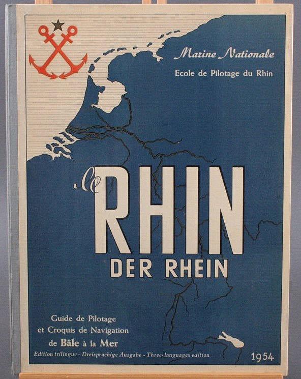 Buch, Zeichnungen für die Schiffahrt, Rhein, 1954