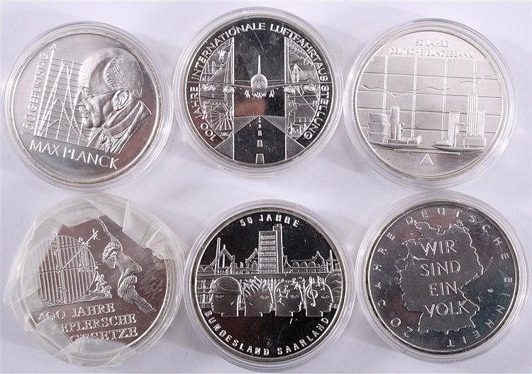 6 x 10 Euro Münzen