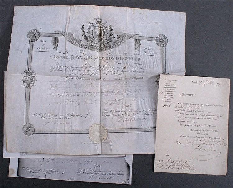 Ernennungsurkunde, Begleitschreiben, Chevalier, 1819