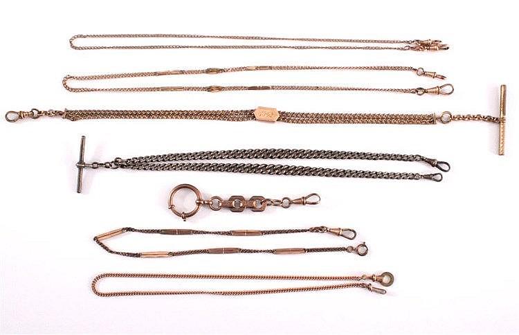 Sammlung Taschenuhrenketten um 1900