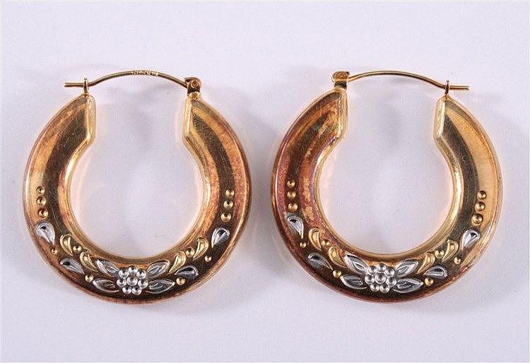 Paar Ohrringe 585/000 GG