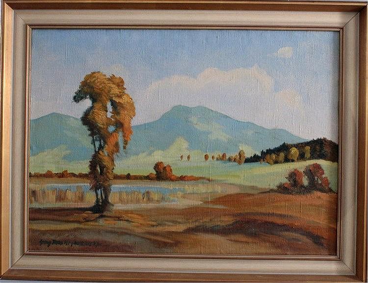 Georg Max Hofmann (1891-1955). Berglandschaft mit See