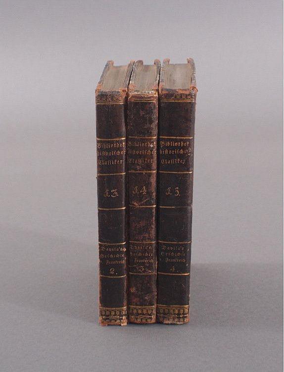 3 Bände Bibliothek historischer Classiker aller Nationen