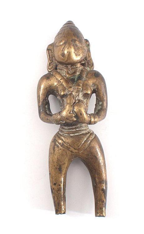 Fragment einer Bronzefigur, Indien 16./17. Jahrhundert