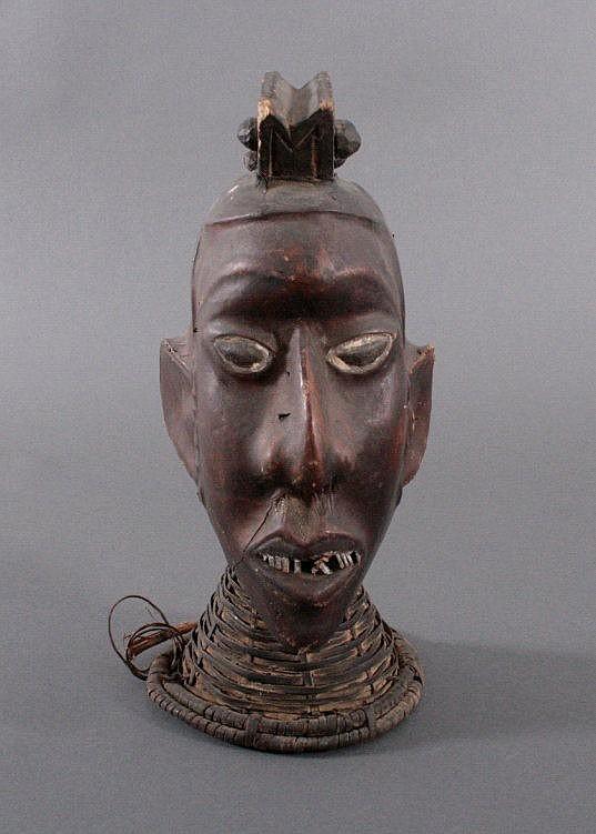 Tanzaufsatz der Ekoi, Nigeria 1. Hälfte 20. Jh.