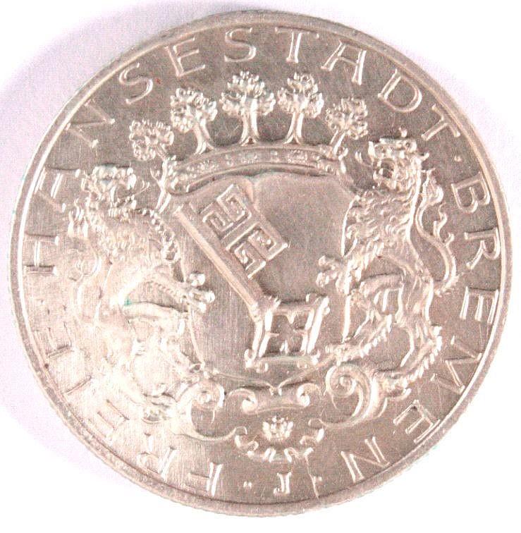 2 Reichsmark Freie Hansestadt Bremen