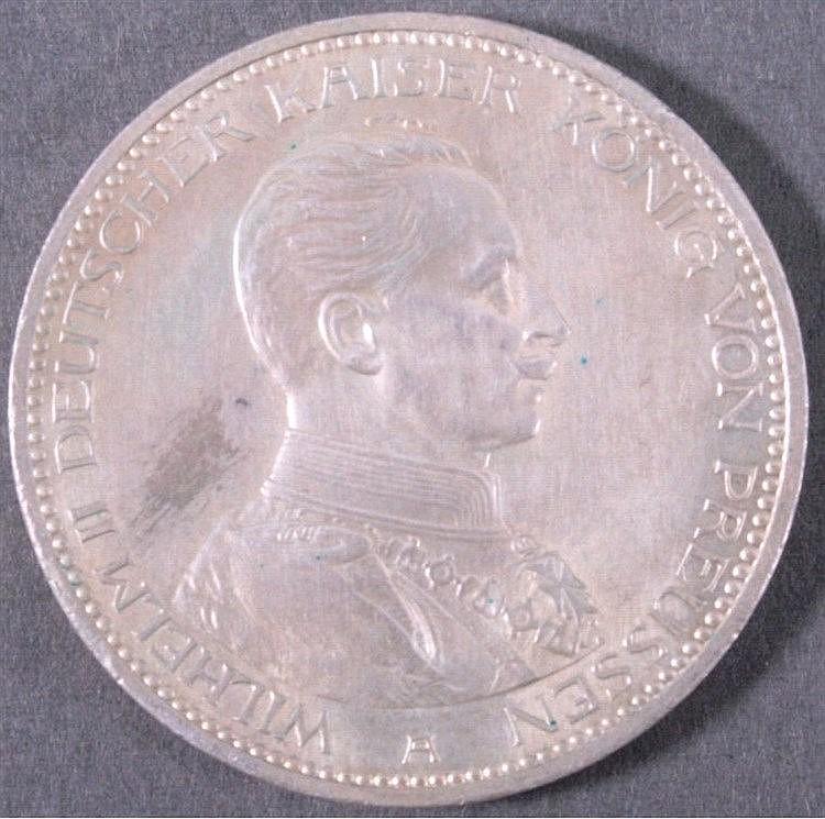 Preußen Wilhelm II. 5 Mark 1914 A