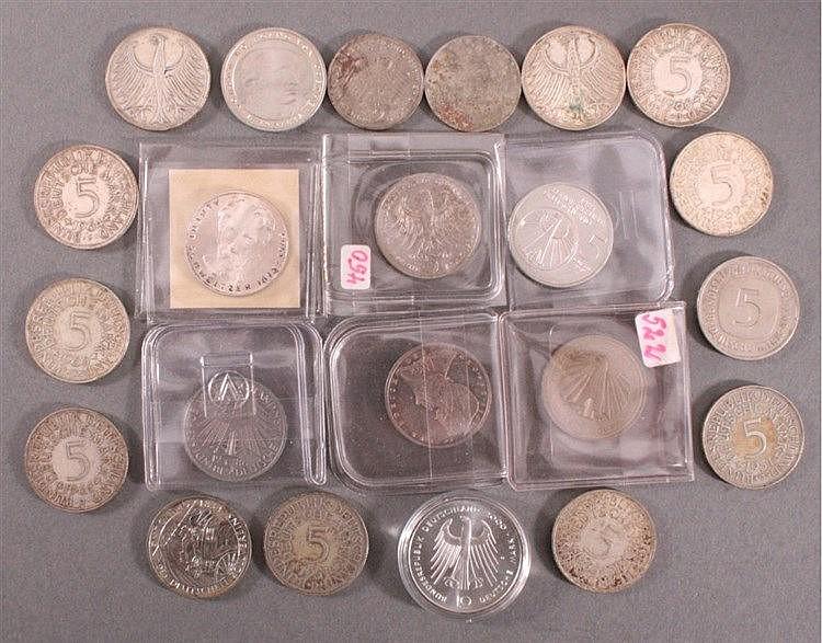 Konvolut Deutsche Mark, Münzen