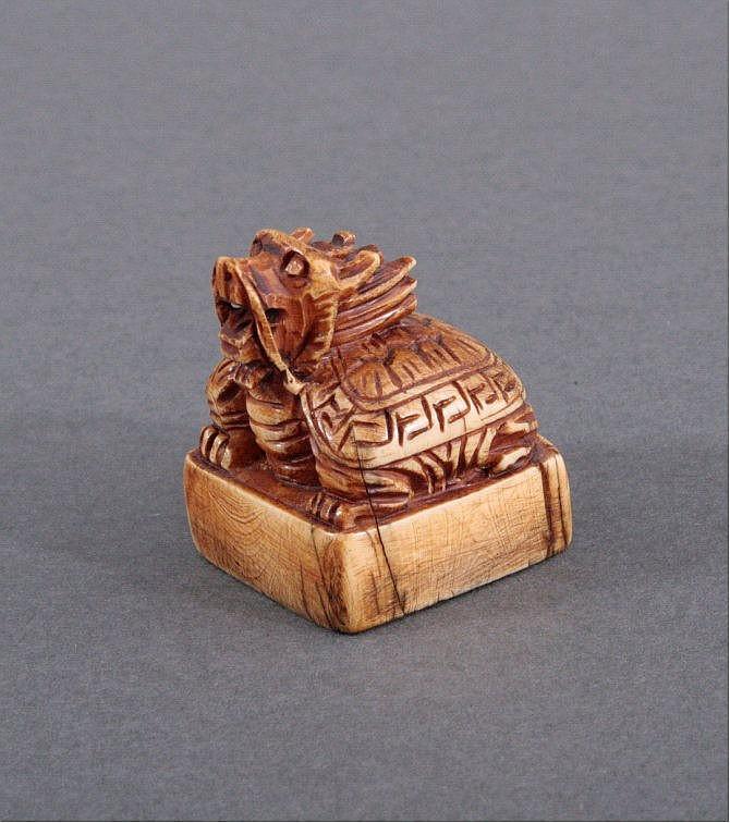 Siegel aus Elfenbein, China um 1900