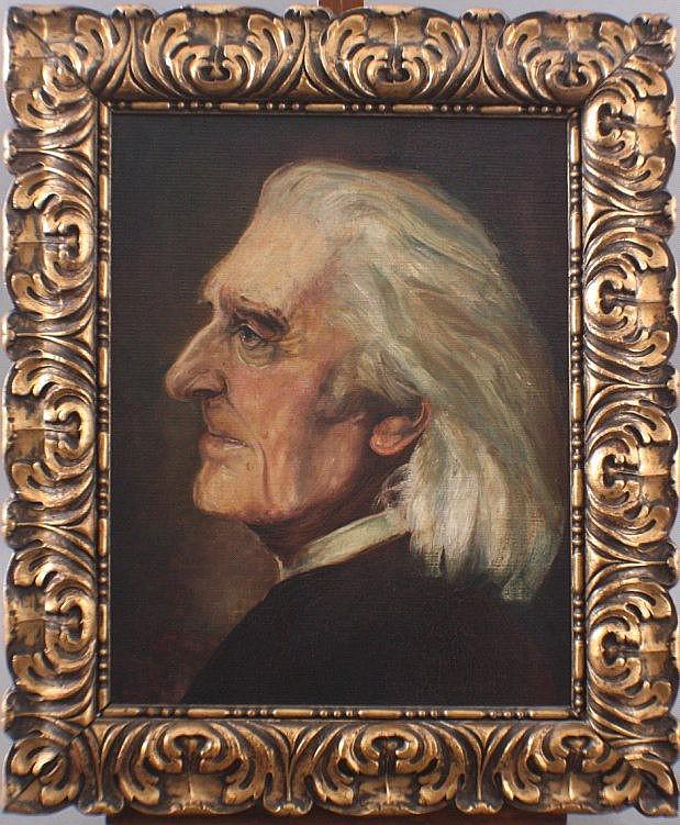 Portrait des Franz Liszt. Unbekannter Künstler des 20. Jh.