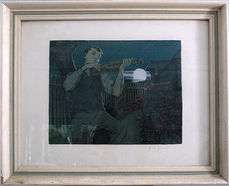 Hans Thoma (1839-1924). Mondscheingeiger
