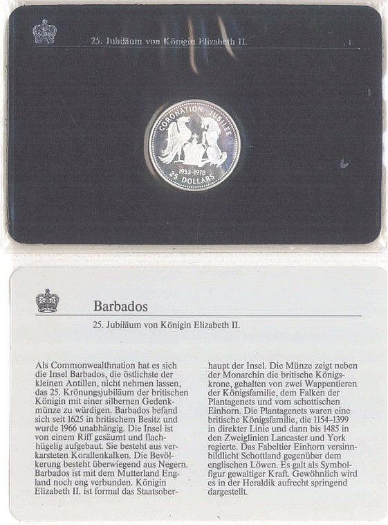 Münze, Barbados, Silber, Queen Elizabeth II