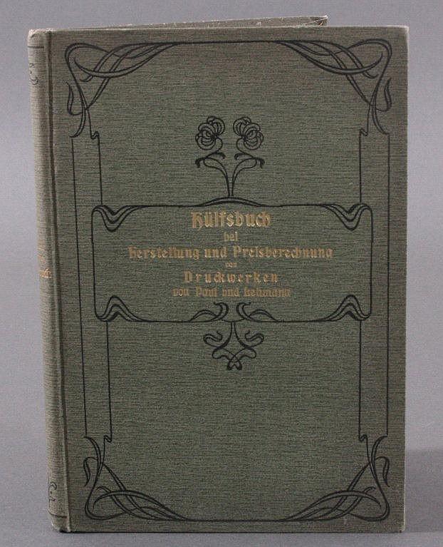 Hilfsbuch bei Herstellung und Preisberechnung
