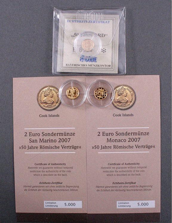 3 Goldmünzen