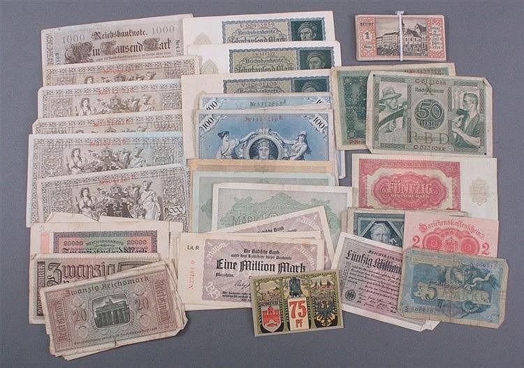 Konvolut Geldscheine