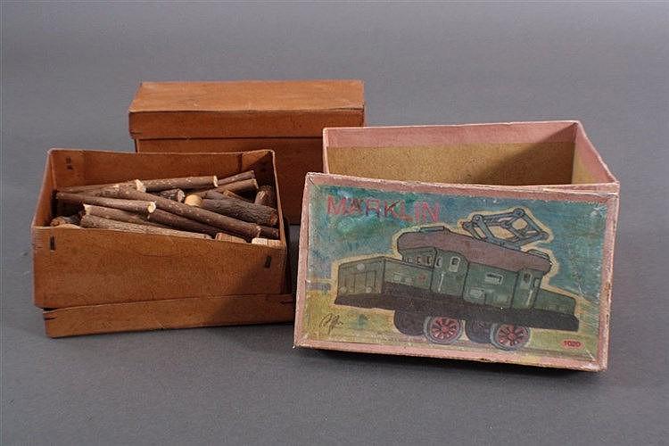 Märklin, 3 Original Karton für Waggons und Krokodil-Lok