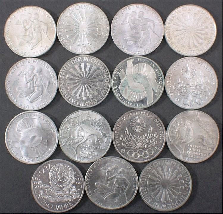Konvolut 10 DM Münzen, Silber, BRD