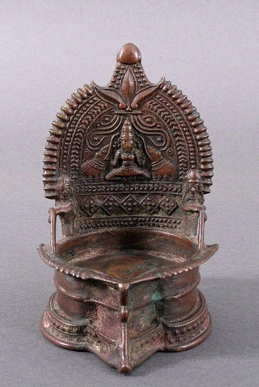 Öllampe, Indien 19. Jh.