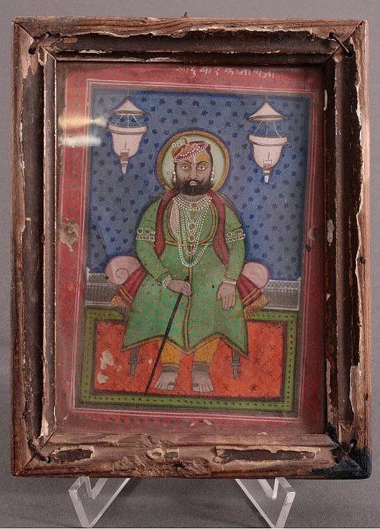 Miniaturbild eines Maharadschas, 18./19. Jh.