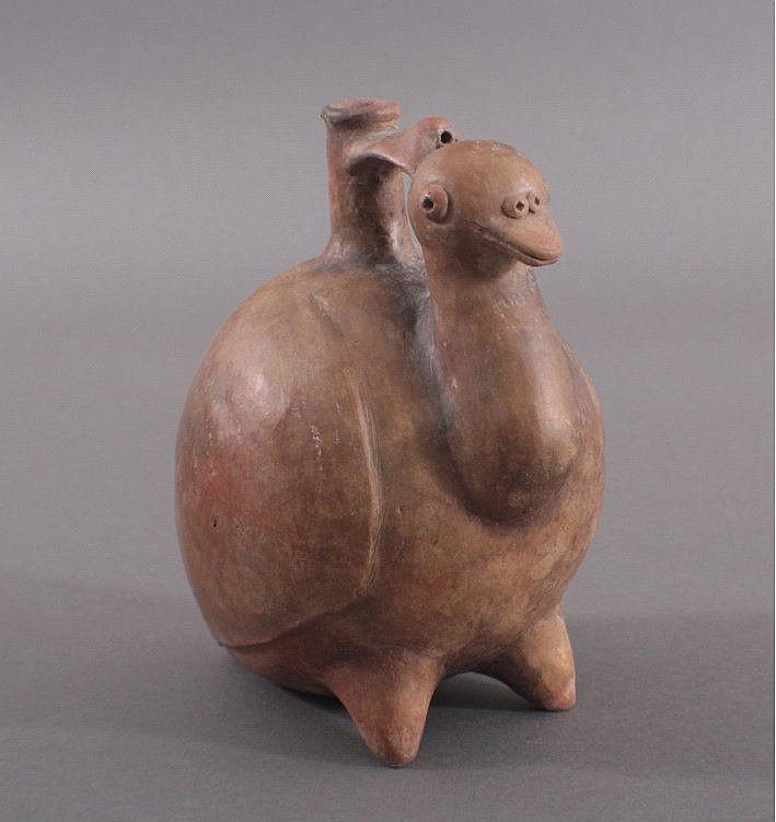 Steigbügelgefäß in Vogelform, im Stil der Nazca Kultur