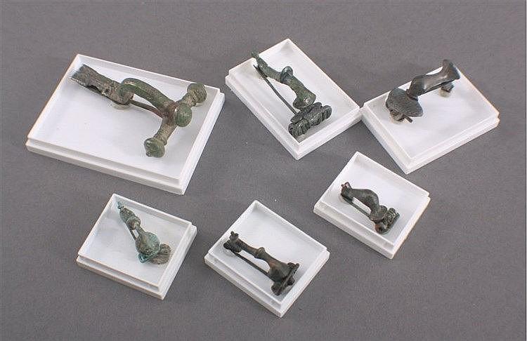 6 Römische Fibeln aus Bronze