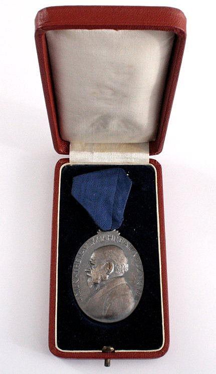 Silbermedaille AEG Emil Rathenau, 1908