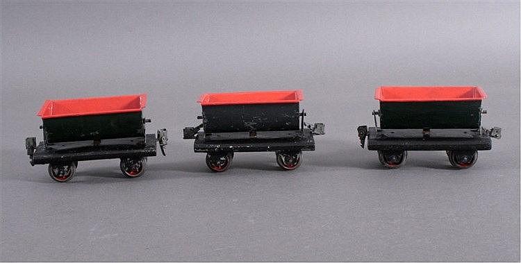 Modelleisenbahn, 3 Kipploren, Spur 0