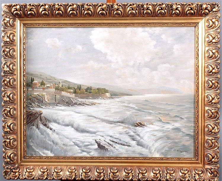 Willi Hamacher 1865-1909, an der Adriaküste bei Portotino