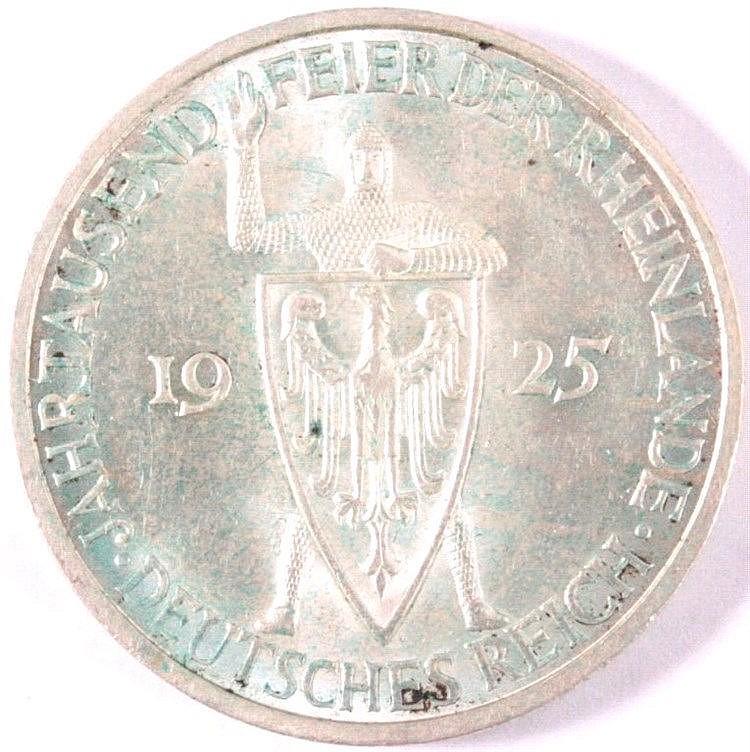 5 Reichsmark 1925, 1000 Jahre Rheinlande