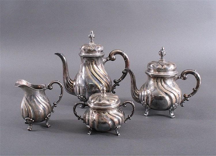 Kaffe- und Teekern, Barockstil, Sterlingsilber