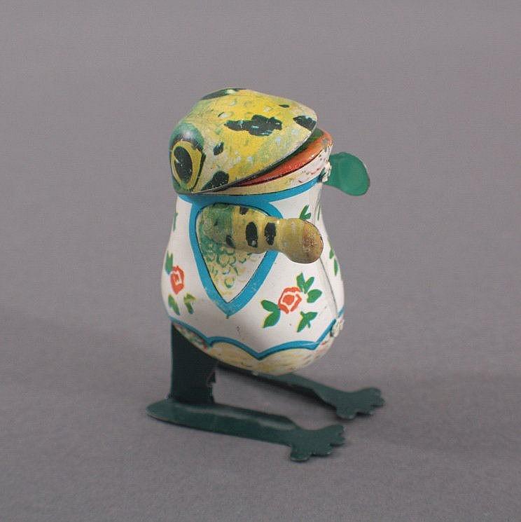 Blechspielzeug Hüpf-Frosch