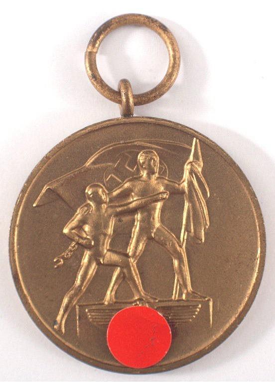 Medaille zur Erinnerung an den 1. Oktober 1938 und Spangenba
