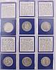 Komplette Sammlung der 5 DM Gedenkmünzen