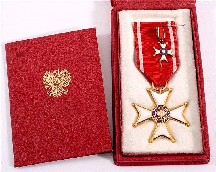 Polnisches Ritterkreuz in Gold