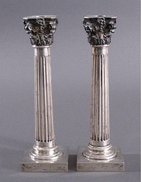 Paar Kerzenleuchter im Empire-Stil