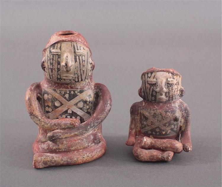 Zwei Tonfiguren Peru, Inka-Stil