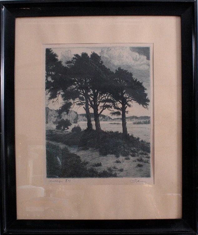 Werner Rathmann (1882-1950). Baumlandschaft
