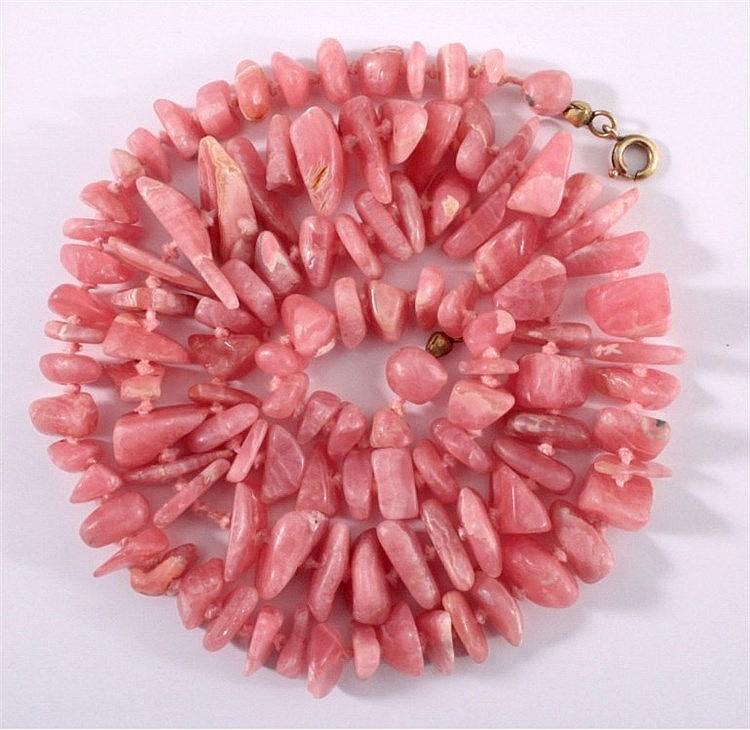 Halskette aus Rosenquarz