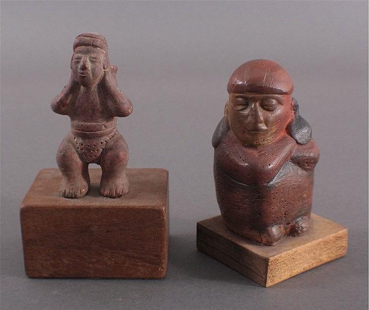 Zwei Ton/Keramikfiguren im Inka-Stil