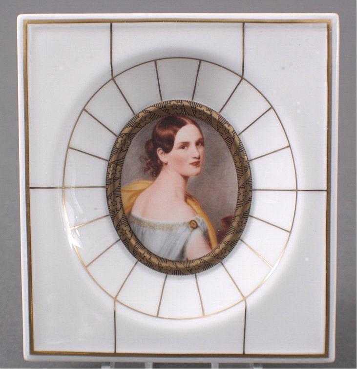 Porzellanmalerei, Miniatur Gemälde, Villeroy & Boch