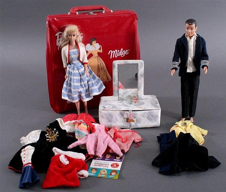 Spielzeug Barbie und Ken, 60er Jahre