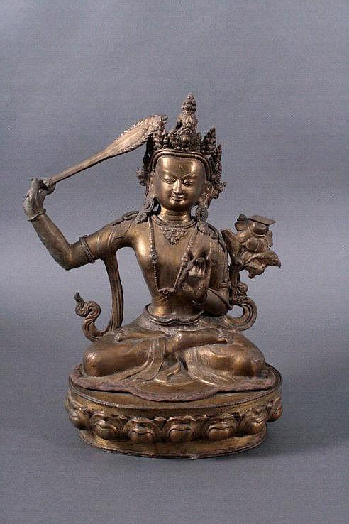 Manjusri, Tibet um 1900 oder früher