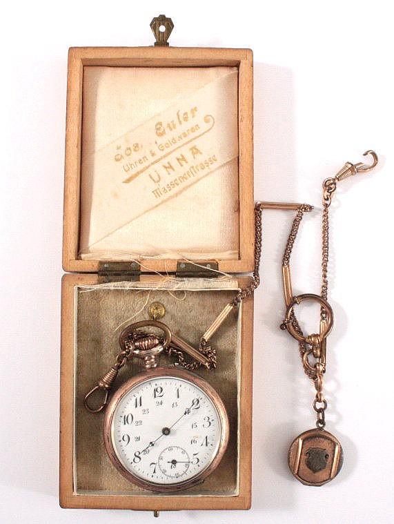 Silberne Taschenuhr um 1900