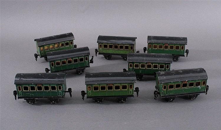 Märklin, 8 x Personenwagen 17190, Spur 0