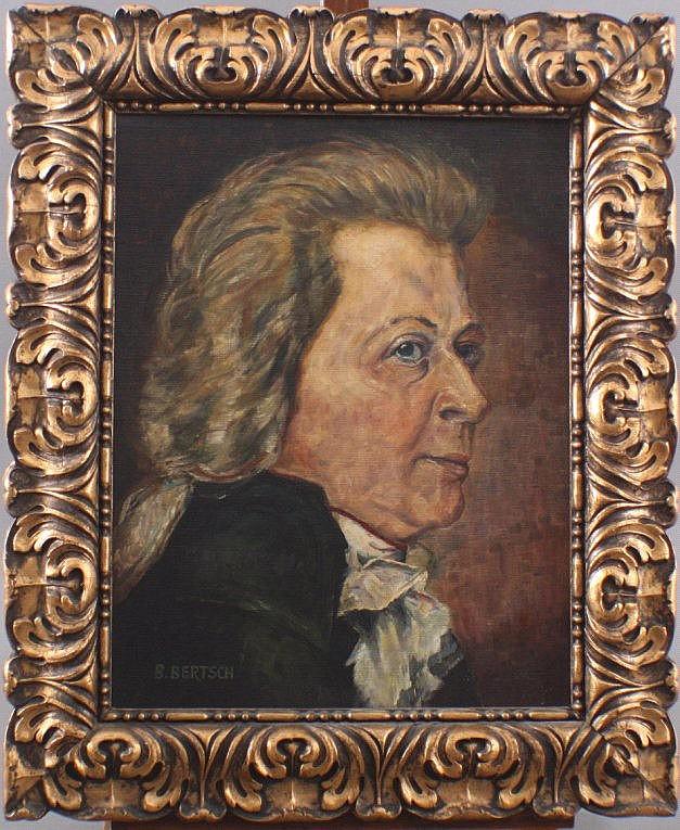 Mozart Portrait. Unbekannter Künstler des 20. Jh.