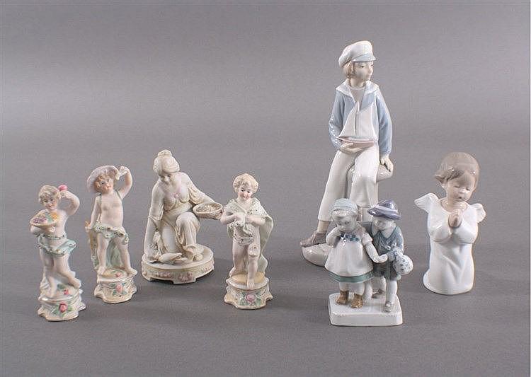 Konvolut Porzellanfiguren und Biskuitporzellan