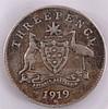 Australien, 3 Pence, George V, 1919